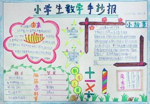 小学三年级数学手抄报(十一)_三年级数学手抄报_奥数网图片