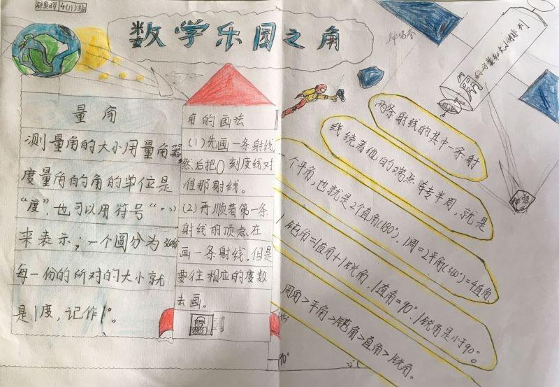 小学四年级数学手抄报