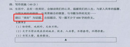 2019年遂宁中考作文:美好