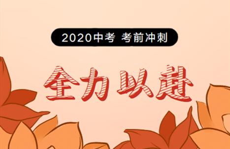 2020年中考冲刺专题策划